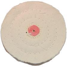 "Cotton Flannel Buff Wheel - 3"" Diameter, 3 Ply"