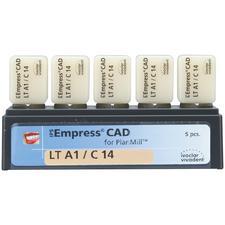 Blocs IPS Empress® CAD PlanMill™ - LT (translucidité faible), C14, 5/emballage