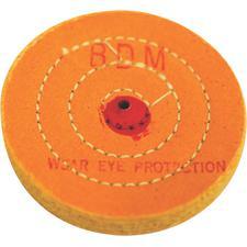 "Muslin Buff Wheels – Yellow, 40-Ply, 4"" Diameter"