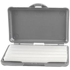 Cire de soulagement Carmel avec boîte sans parfum – boîte argentée, 50boîtes de plastique/boîte