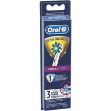 Brossette de rechange pour brosse à dents électrique Oral-B® avec soies anticatériennes, 3/emballage