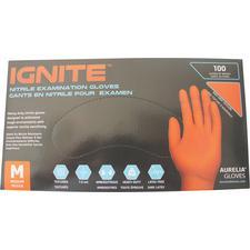 Aurelia® Ignite™ Nitrile Exam Gloves – Orange, 100/Pkg