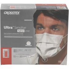 Masques Ultra® Sensitive FogFree™ avec écran et technologie Secure Fit® – ASTM niveau 3, blancs, 25/emballage