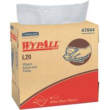 "WypAll® L20 Wipers – White, 9.1"" x 16.8"", Pop-up Box, 88 Sheets/Pkg, 10 Pkg/Case"