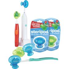 Steripod® Toothbrush Protectors Sample – Assorted Colors, 12/Pkg