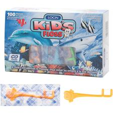 Locin Kid's Floss™ Individually Wrapped Kid's Dental Floss Picks, 1000/Pkg