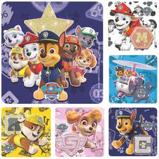 "Glitter Cartoon Licensed Stickers, 2-1/2"" W x 2-1/2"" H, Six Designs/Roll, 100/Roll"