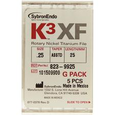K3™ XF NiTi Files – G Packs, 5/Pkg