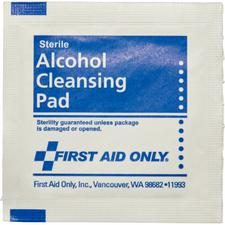 Alcohol Cleansing Pads, 20/Pkg