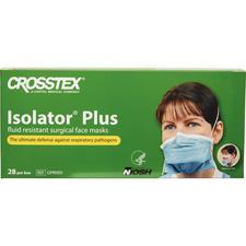 Masque respiratoire N95 Isolator Plus® contre les particules – Blanc avec bandes bleues, 28/emballage