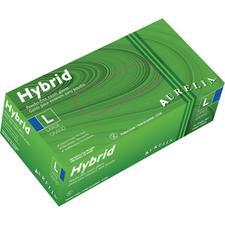 Gants d'examen en vinyle Aurelia® Hybrid – Sans poudre, bleus, 100/emballage