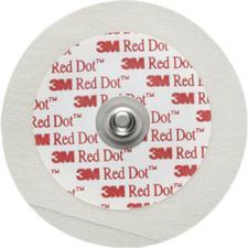 "3M™ Red Dot™ ECG Monitoring Electrode Pediatric with 3M™ Micropore Tape Backing – 1.75"" (4.4 cm) Diameter, 50/Pkg"