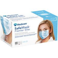 Safe+Mask® Premier Elite Earloop Masks – ASTM Level 3, 50/Box