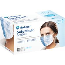 Safe+Mask® SofSkin® Procedure Earloop Masks – ASTM Level 1, 50/Box