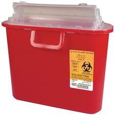 Universal Fit Sharps-Tainer – 5.4 Quart, Red
