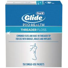Oral-B® Glide Threader Floss, 150/Pkg