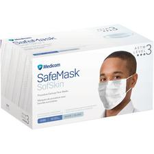 Medicom® SafeMask® SofSkin® Procedure Earloop Face Masks – ASTM F2100 Level 3, 50/Pkg