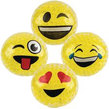 Squeezy Bead Emoticon Balls, 12/Pkg