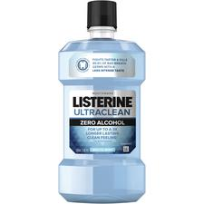 Listerine® Ultraclean® Zero Alcohol Mouthwash – 500 ml Bottle, Arctic Mint, 6/Pkg
