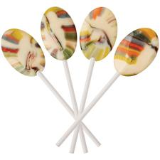 Dr. John's® Healthy Sweets™ Xylitol Rainbow Lollipops, Berrry Swirl Flavored, 2.5 lb/Approx. 160/Pkg