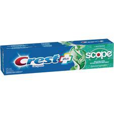 Crest® Complete Plus™ Scope® + Whitening Toothpaste – Minty Fresh Striped, 125 ml, 12/Pkg