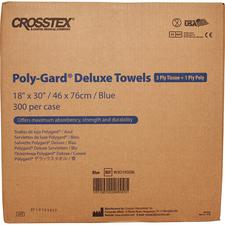 "Polygard® Deluxe Patient Towels and Bibs – 18"" x 30"", Blue, 300/Pkg"