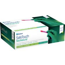 SafeTouch® NeoNatural™ Exam Gloves – Powder Free, Latex Free, Nonsterile, Emerald Green, 100/Pkg