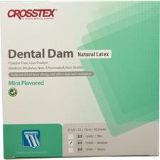 "Latex Dental Dam – Mint Flavored, Green, 6"" x 6"", 36/Box"