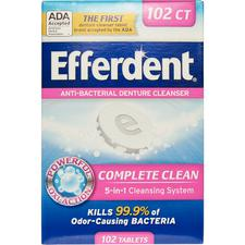 Efferdent® Anti-Bacterial Denture Cleanser, 102 Tablets/Pkg