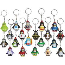 "Assorted Collectible Penguin Keychains – 1.5"", 20/Pkg"