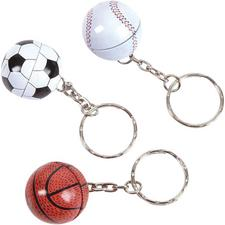 Metal Sports Ball Keychains