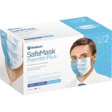 Masques Safe+Mask® Premier Plus à bandes auriculaires – ASTM niveau 2, 50/boîte