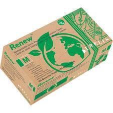 Aurelia Renew™ Biodegradable Nitrile Exam Gloves – Powder Free, Latex Free, 2.2 ml Thickness, Green Apple, 300/Pkg