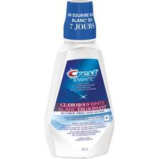 Rince-bouche blanchissant multisoins blanc éblouissant Crest®3D White™ – Sans alcool, menthe fraîche, bouteille de 946ml