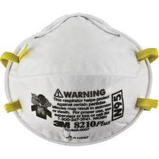 3M™ N95 Particulate Respirator Mask – Ultrasonically Welded Strap Attachment, White, 20/Pkg