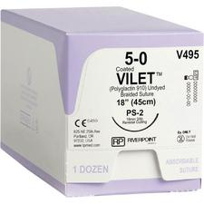 Vilet® PGLA Absorbable Braided Suture – Reverse Cutting, 12/Pkg