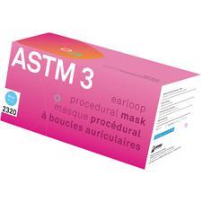 Masque à boucles auriculaires Aurelia – ASTM niveau 3, bleu, coton pur, 40/emballage