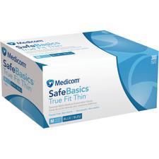 Gants bleus en nitrile SafeBasics™ True Fit Thin™, 300/boîte