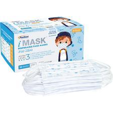 Masque jetable à boucles auriculaires et de qualité supérieure pour enfants iMask™ – ASTM niveau 3, sans latex, 50/emballage