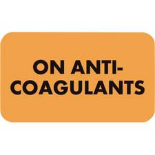 Anticoagulant Label, 250/Pkg