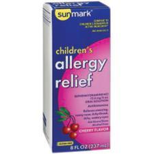 sunmark® Diphenhydramine Hydrochloride (HCl) – 12.5 mg/5 ml Strength, 4 oz, Oral Solution, NDC 49348-0045-34