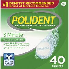 Polident® 3-Minute Antibacterial Denture Cleanser