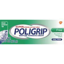 Super Poligrip® Free Denture Adhesive Cream – 0.75 oz, 12/Pkg