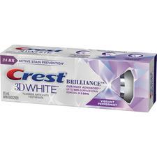 Crest® 3D White™ Brilliance™ Fluoride Anticavity Toothpaste – 85 ml, Vibrant Peppermint, 12/Pkg