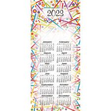 "Calendar Card, 3-5/8"" W x 8-1/2"" H, 100/Pkg"