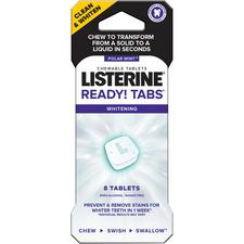 Listerine® Ready! Tabs® Whitening Chewable Tablets – Polar Mint™, 48/Pkg