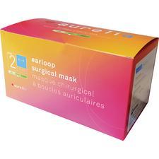 Masque chirurgical à boucles auriculaires Aurelia® – Niveau ASTM 2, sans latex, bleu, 50/emballage