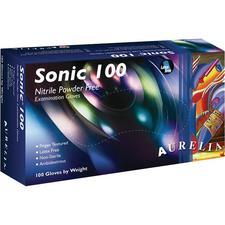 Aurelia® Sonic® 100 Nitrile Exam Gloves – Powder Free, Indigo, 100/Pkg