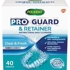 ProGuard and Retainer Antibacterial Daily Cleanser – 40 Tablets/Box, 6 Box/Pkg