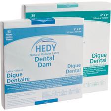 Hedy® Nonsterile Natural Rubber Latex Dental Dam